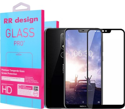 RR DESIGN Tempered Glass Guard for Nokia 6.1 Plus(Pack of 1)