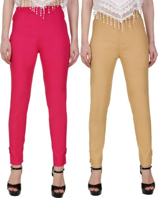 Blugee Regular Fit Women Pink, Red Trousers