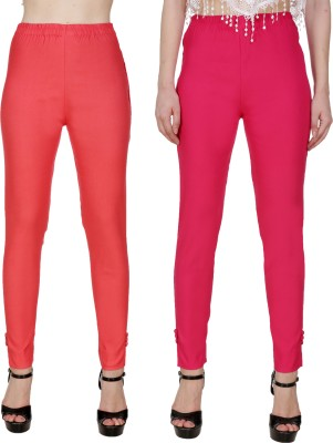 Blugee Regular Fit Women Red, Pink Trousers