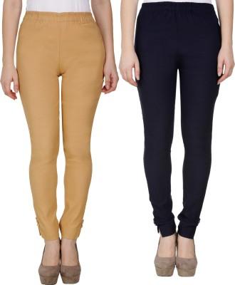 Sijon Regular Fit Women Dark Blue, White Trousers