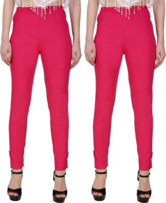 Blugee Regular Fit Women Pink, Dark Blue Trousers