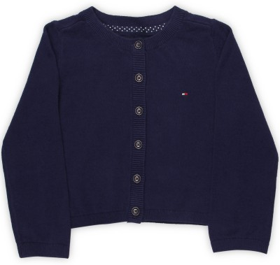 Tommy Hilfiger Baby Girls Button Solid Cardigan