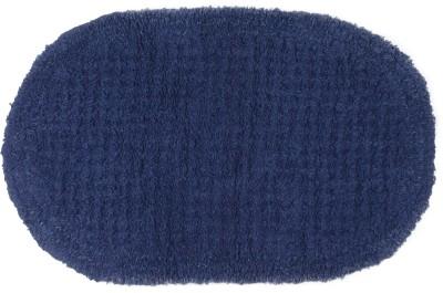 SWHF Cotton Bathroom Mat(Blue, Medium) at flipkart