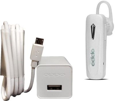 OPPO Wall Charger Accessory Combo for Oppo Mobile(White)
