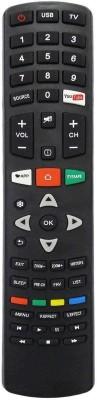 LipiWorld Smart LCD LED TV Universal Remote Control Compatible for INTEX Smart LED LCD Remote Controller(Black)