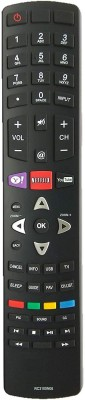 LipiWorld RC3100N08 Remote Control Compatible for LCD LED TV TCL Netflix Remote Controller(Black)