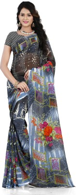 Anand Sarees Geometric Print, Floral Print Daily Wear Georgette Saree(Multicolor)