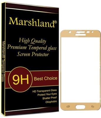 Marshland Tempered Glass Guard for Samsung Galaxy J7 Prime (Gold) Full Glue Full Screen Protector 9H Hardness Edge to Edge Anti-Scratch Anti-Bubble for Tempered Glass Screen Protector for Samsung Galaxy J7 Prime(Pack of 1)
