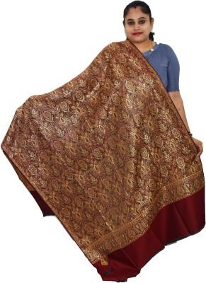 Vrinde Pure Wool Self Design Women Shawl(Red)