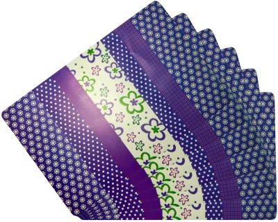 LooMantha Rectangular Pack of 6 Table Placemat(Multicolor, PVC) at flipkart