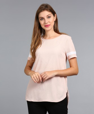 Vero Moda Casual Short Sleeve Self Design Women