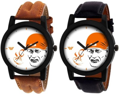 SkyLona Sai Baba Printed with High Quality Leather Belt Casual and Formal Analog Watch for Men & Boys Watch  - For Men