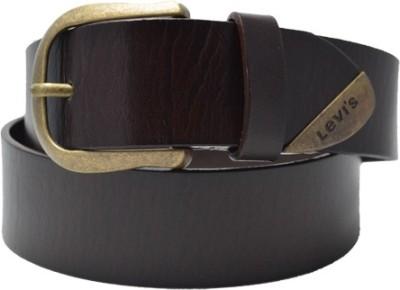 LEVI'S Men Casual Brown Genuine Leather Belt LEVI'S Buckles