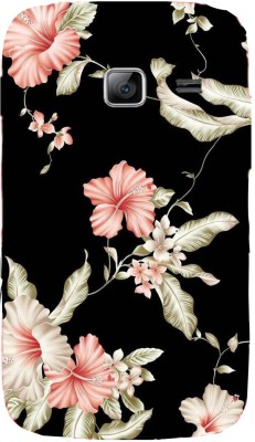 Mystry Box Back Cover for Samsung Galaxy Y Duos S6102(Black flower, Flexible Case)
