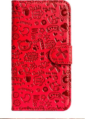 Mystry Box Flip Cover for SAMSUNG Galaxy A7 Red Mystry Box Designer Cases   Covers