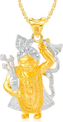 VK Jewels Lord Krishna Gold-plated Cubic Zirconia Alloy, Brass Pendant