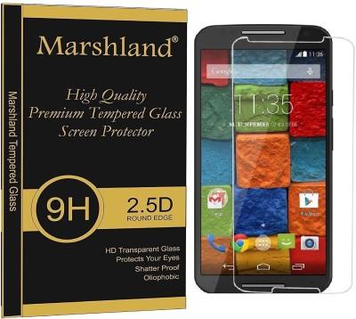 Marshland Tempered Glass Guard for Motorola Moto X (2nd Generation) 9h hardness, Anti scratch, oleo phobic coating, Bubbles free (Transparent)(Pack of 1)