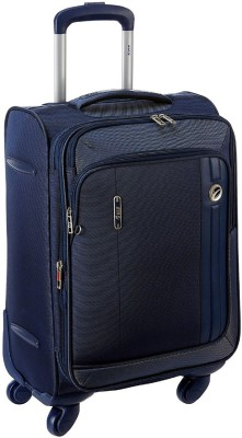 VIP UNICORN X 4W EXP STROLLY 56 BLUE Expandable  Cabin Luggage - 21 inch(Blue)