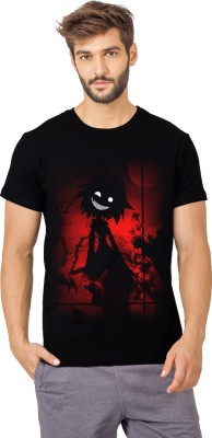 SmartRAHO Printed Men Round Neck Red, Black T Shirt SmartRAHO Men's T shirts