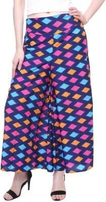 TASHI Flared Women Multicolor Trousers TASHI Palazzos