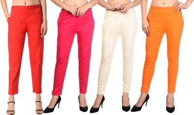 PAMO Regular Fit Women Red, Red, Pink, Maroon Trousers