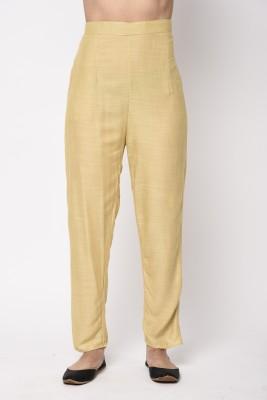 Broadstar Regular Fit Women Beige Trousers