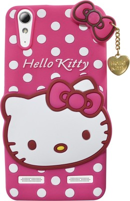 Coverage Back Cover for Lenovo A6010 Plus Hello Kitty Pink Coverage Plain Cases   Covers
