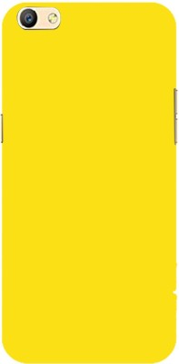 Phonicz Retails Back Cover for Oppo F3Plus Yellow, Dual Protection