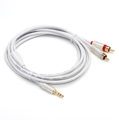Bluerigger 3.5MM-RCA-8FT Stereo Audio Cable(Compatible with Mobile, Laptop, Tablet, Mp3, Gaming Device, White) at flipkart