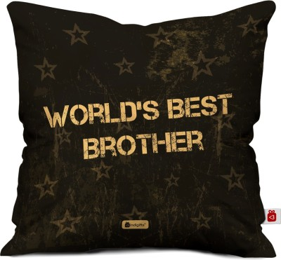 Indigifts Printed Cushions Cover(40 cm*40 cm, Brown)