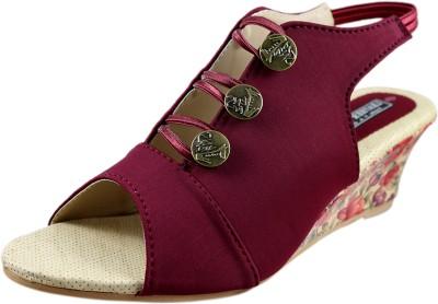 Leatherwood1 Women Maroon Heels