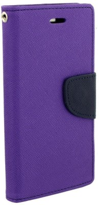 Avzax Flip Cover for Kingstar Titans 2(Purple, Dual Protection, Artificial Leather)