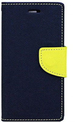 Avzax Wallet Case Cover for Kingstar Titans 2(Blue, Cases with Holder, Artificial Leather, Silicon)