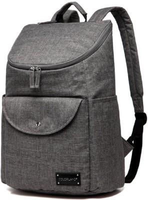 Colorland Multifunctional Modern Mommy Diaper Backpack Backpack Diaper Bag(Grey)