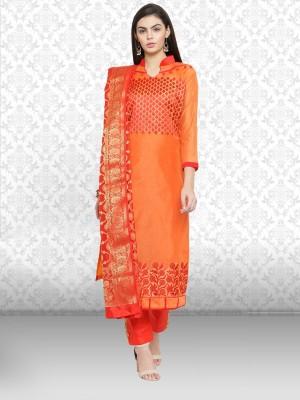 Divastri Cotton Embroidered Salwar Suit Material(Unstitched)