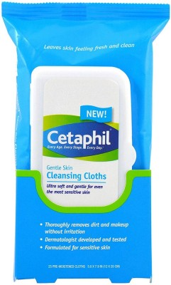 Cetaphil Gentle Skin Cleansing Cloths 25 Count(Pack of 25)