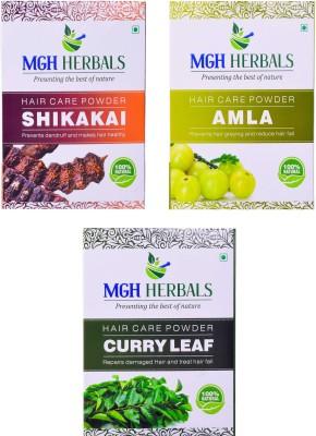 MGH Herbals Organic Shikakai, Amla & Curry Leaf (Pack of 3)(600 g)