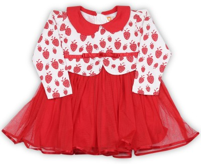 8ff4c33ede76 52% OFF on 612 League Girls Midi/Knee Length Casual Dress(Red, Full ...