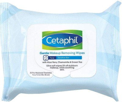 Cetaphil Gentle Makeup Removing Wipes, 25 Count Makeup Remover(54 g)