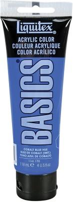 liquitex BASICS Acrylic Paint 4-oz tube, Cobalt Blue Hue(Set of 1, BASICS Acrylic)