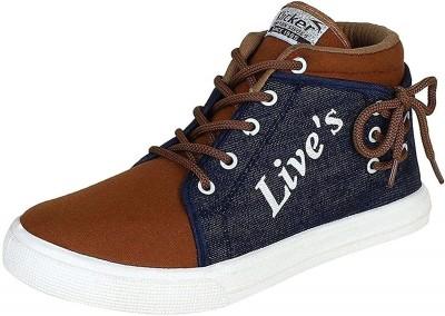 Emosis FreshLook Sneakers For Men(Brown)