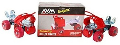 AVM Tennacity Roller Quad Roller Skates - Size 10 UK(Red)