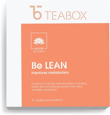 Teabox Be Lean' Ayurveda Inspired Weightloss Herbal Tea(16 Bags, Box)