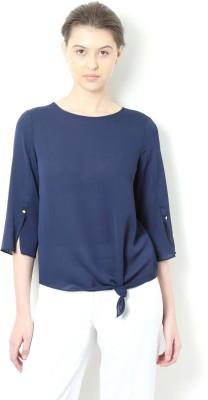 Van Heusen Casual 3/4th Sleeve Solid Women