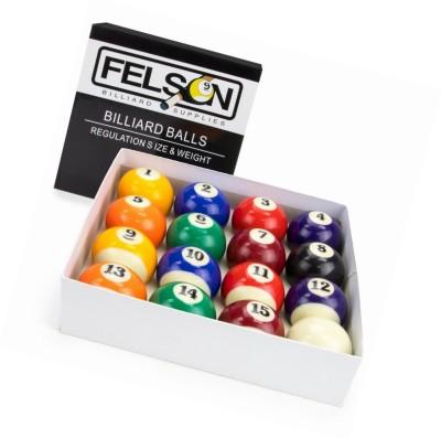 Laxmi Ganesh Billiard FELSON POOL BALL SET Billiard Ball(Pack of 16, Multicolor)