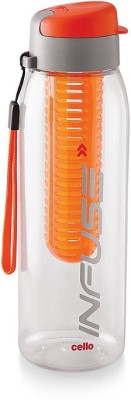 Cello Infuse Plastic Water Bottle, 800ml, Orange 800 ml Sipper(Pack of 1, Orange)