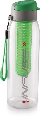 Cello Leak Poof Water Bottle 800 ml, Green 800 ml Shaker(Pack of 1, Green)