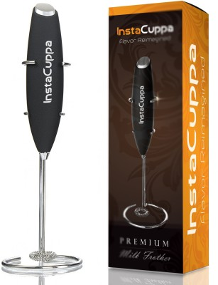 INSTACUPPA Milk Frother with 1 Year Warranty & Stainless Steel Stand, Handheld Battery Operated Electric Foam Maker For Coffee, Latte,...