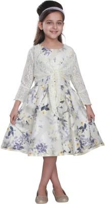 Cutecumber Girls Midi/Knee Length Party Dress(Multicolor, Full Sleeve)