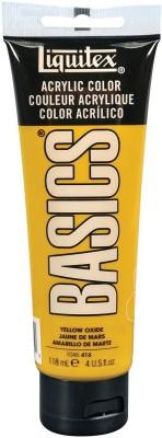 Liquitex BASICS Acrylic Paint 4-oz tube, Yellow Oxide(Set of 1, BASICS Acrylic Paint)